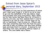 extract from jesse spicer s personal diary september 1915
