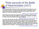 three accounts of the battle of passchendaele 1917