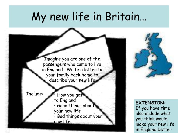 My new life in Britain…