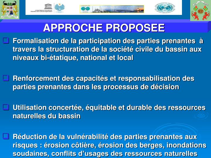 APPROCHE PROPOSEE