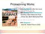 prizewinning works