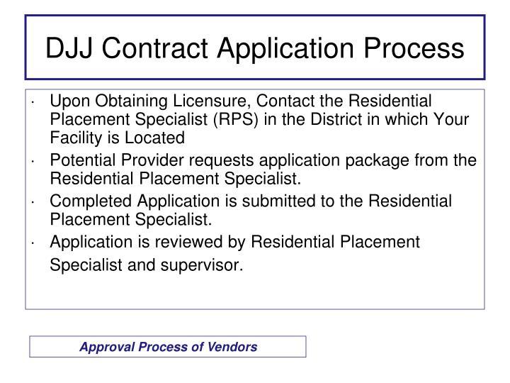 DJJ Contract Application Process