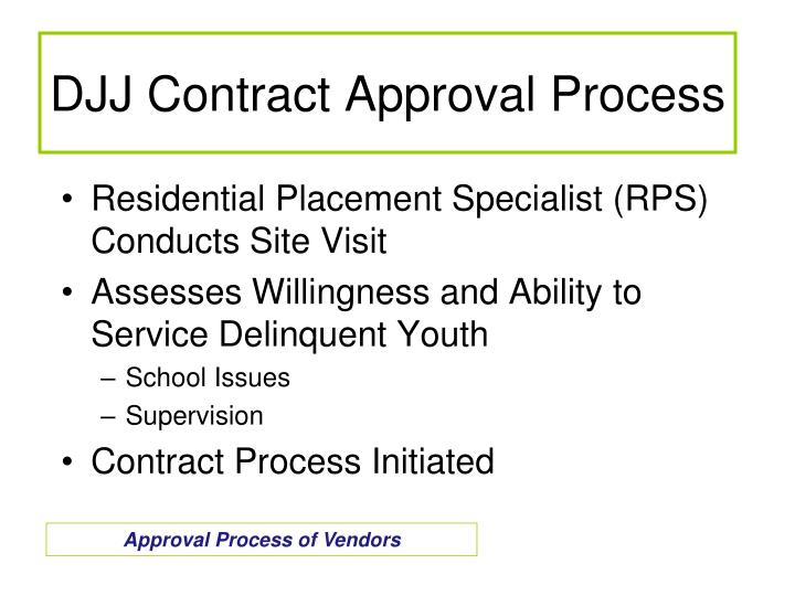 DJJ Contract Approval Process