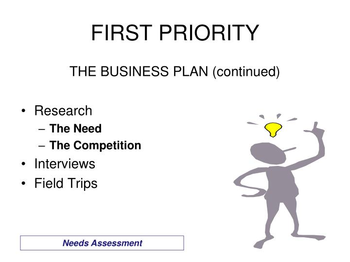 THE BUSINESS PLAN (continued)