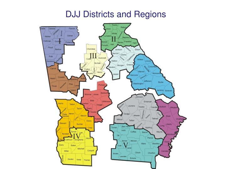 DJJ Districts and Regions