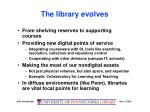 the library evolves