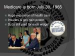 medicare is born july 30 1965