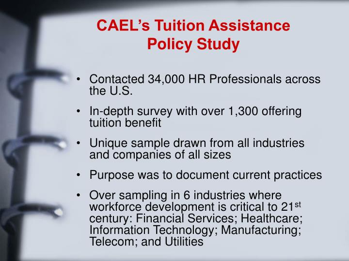 CAEL's Tuition Assistance