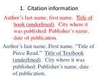 1 citation information