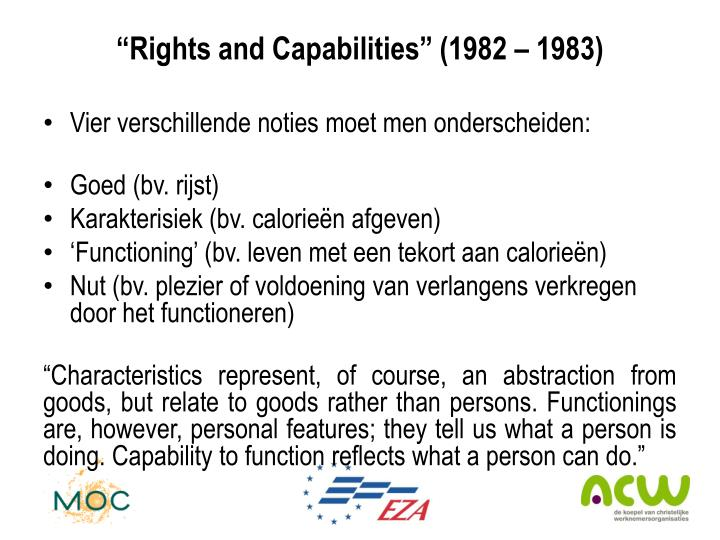 """""""Rights and Capabilities"""" (1982 – 1983)"""