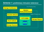 scheme 1 preliminary intrusion tolerance