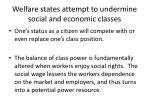 welfare states attempt to undermine social and economic classes