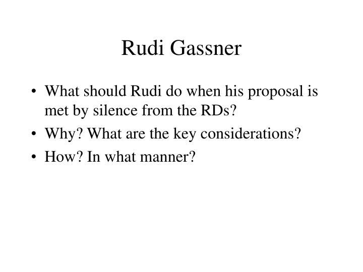 Rudi gassner