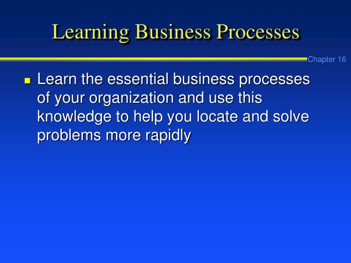Learning Business Processes