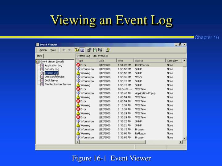 Viewing an Event Log