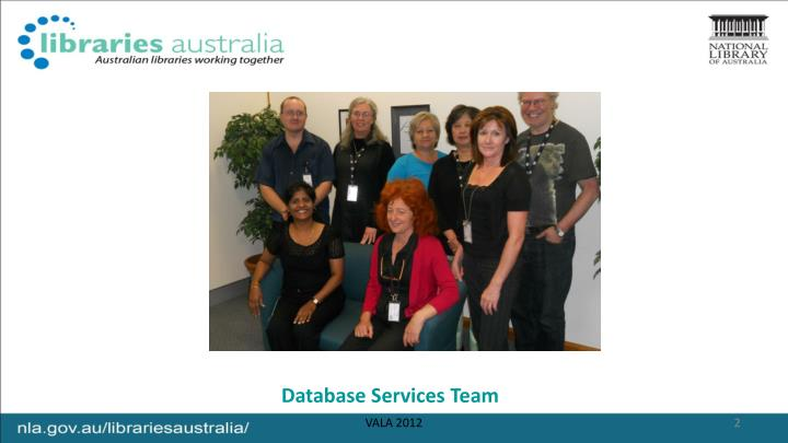 Database services team