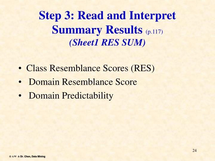 Step 3: Read and Interpret Summary Results