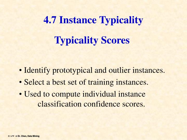 4.7 Instance Typicality
