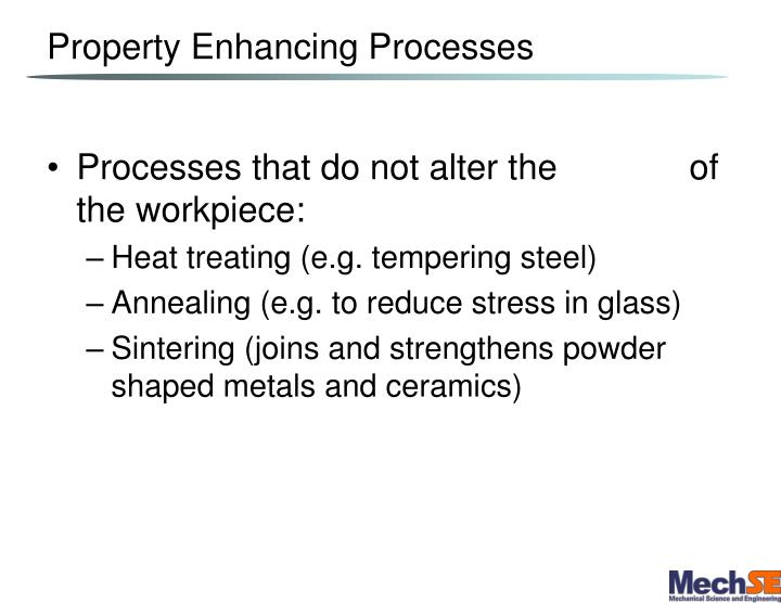 Property Enhancing Processes