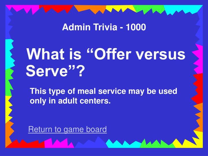 Admin Trivia - 1000