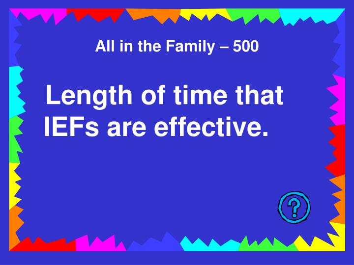 All in the Family – 500