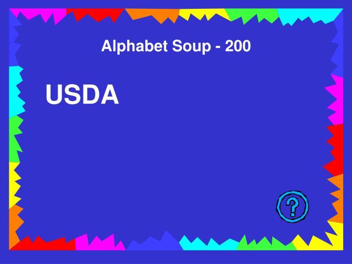 Alphabet Soup - 200