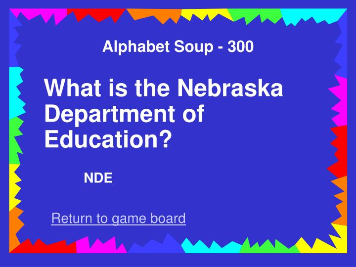Alphabet Soup - 300