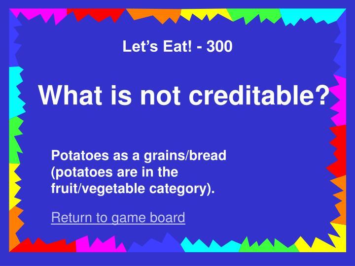 Let's Eat! - 300