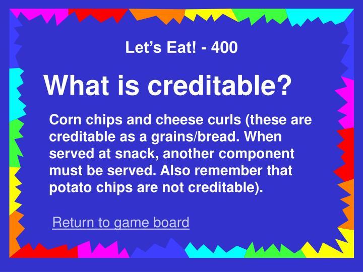 Let's Eat! - 400