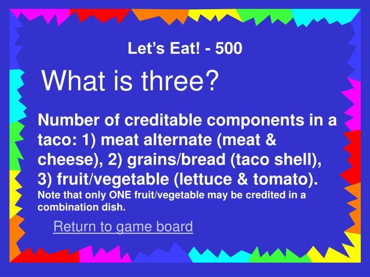 Let's Eat! - 500