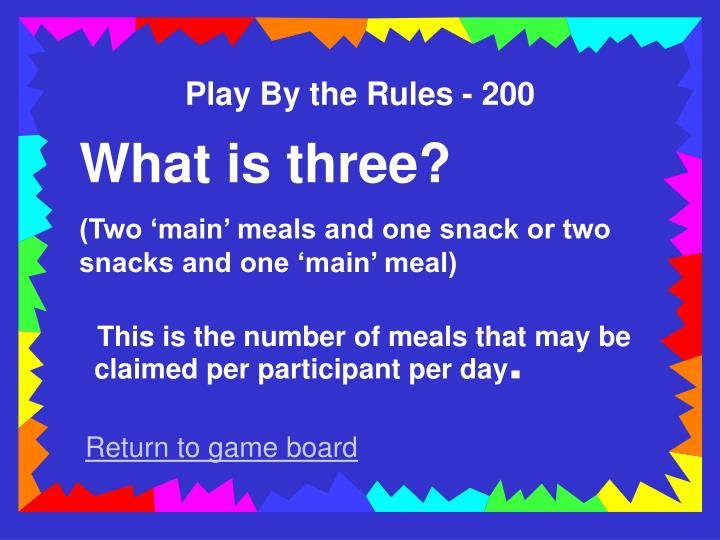 Play By the Rules - 200