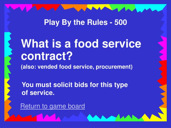 Play By the Rules - 500