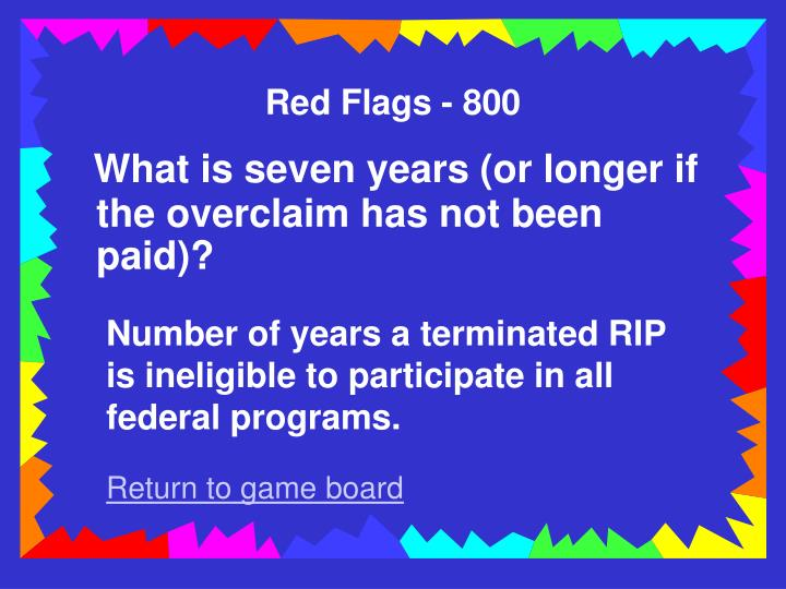 Red Flags - 800