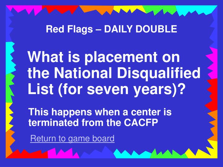 Red Flags – DAILY DOUBLE