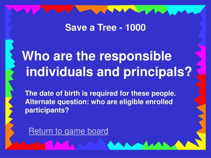 Save a Tree - 1000