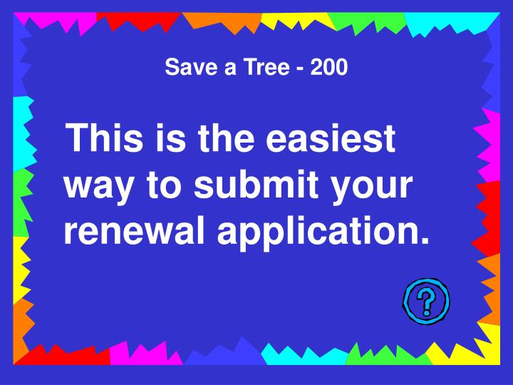 Save a Tree - 200