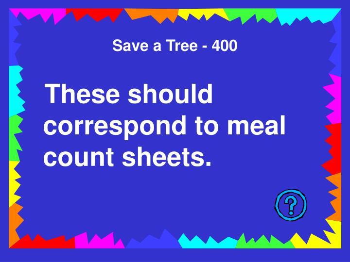Save a Tree - 400