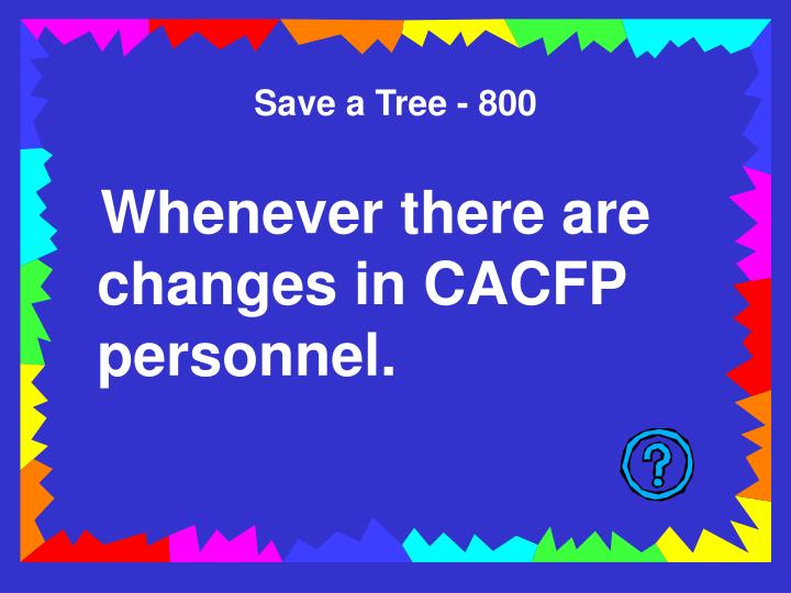 Save a Tree - 800