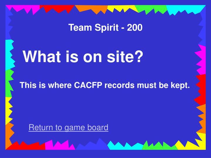 Team Spirit - 200
