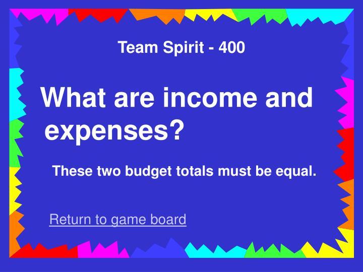 Team Spirit - 400