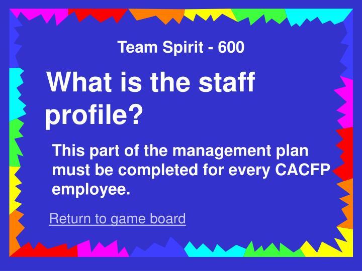 Team Spirit - 600