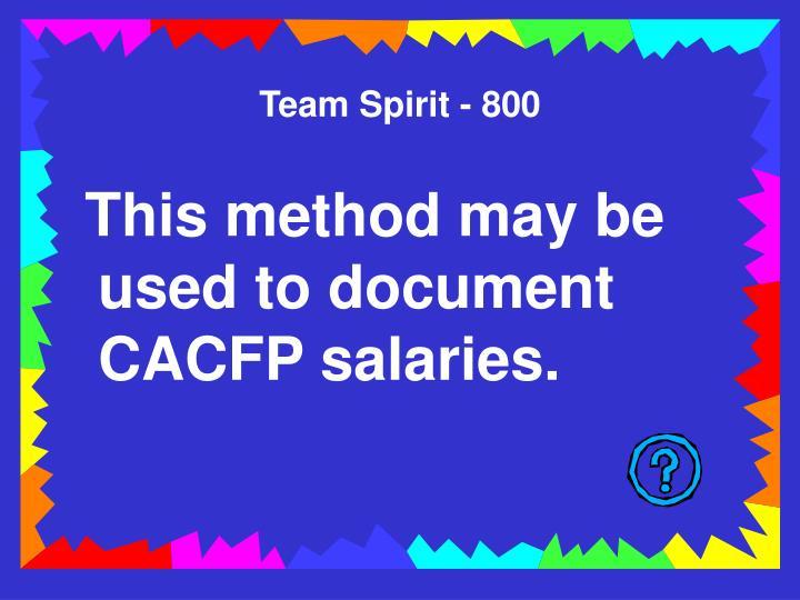 Team Spirit - 800