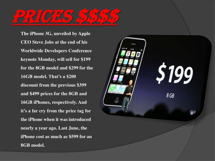 PRICES $$$$