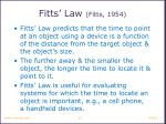 fitts law fitts 1954