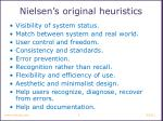 nielsen s original heuristics