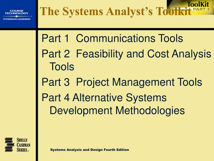 The systems analyst s toolkit