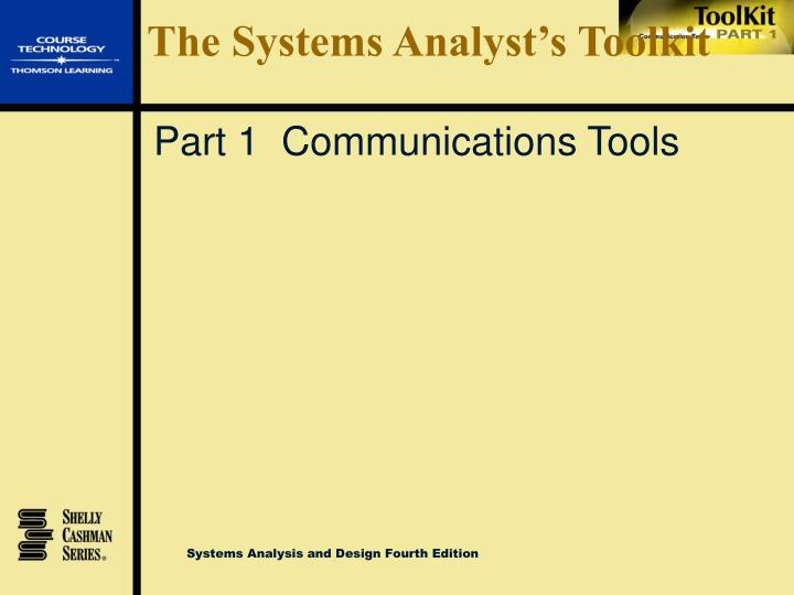 The systems analyst s toolkit1