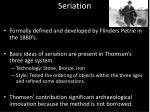 seriation