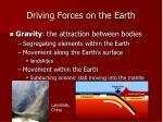 driving forces on the earth