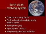 earth as an evolving system